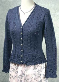 Is this too fussy?  Very Victorian  Fiddlesticks Knitting--Dorothy Siemens--Flora Cardigan
