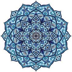 Volkszugeh�rigkeit runden Muster in blauen Farben. Das Element der Volks…