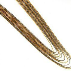 14 fios em tons de dourado, prata e ouro velho para te ajudar num dos dias mais indecisos da semana: a segundona! ❤😂😍👸 #colar #maxi #mix #cores #chique #moda #estilo #look #necklace #chic #fashion #style #instalook #instamood #instagood #instachic