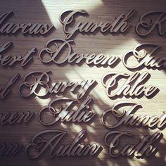 Lovely wooden place names for @riannaphillips checkout her stuff she is an Etsy celebrity! #jld #placenames #wooden #mdf #cool #handmade #etsyseller #etsy #instagood #instagram #wedding #weddings #weddinginspiration #weddingguest #weddingdecor