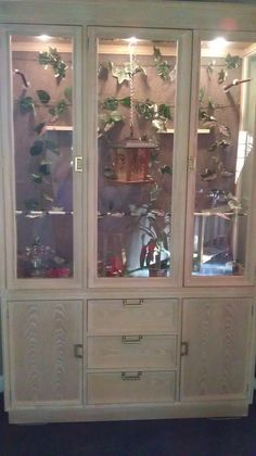 DIY birdcage cabinet aviary glass curio cabinet china cabinet - Google Search
