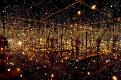 Spectacular Fireflies on the Water Light Exhibit by Japanese artist Yayoi Kusama