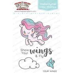 The Greeting Farm Your Wings Stamp Set   Stamps   The Greeting Farm    Orchids And Hummingbirds Designs, LLC