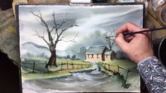 watercolour landscape painting demo by Bill Lupton - The Lost Cottage