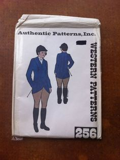 Authentic Patterns Inc Western Patterns 256 Ladies Hunt Coat & Riding Breeches 7.99+3.25 obd nsld 7/14/14