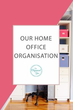 Our Home Office Organisation - do you work from home or have a home office? These rooms or spaces can often become cluttered and messy, especially if you have lots of paperwork. This post shows you step-by-step how I decluttered and organised our home office so that I could easily find what I was looking for, and everything had it's own place