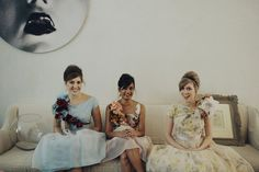 love these flowers on the bridesmaids