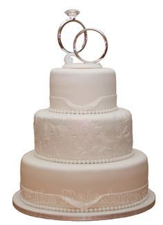 Weddingcake. Missing out the brooches that would be added by the bride