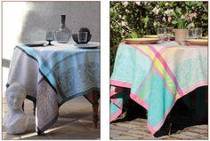"""Nappes Jacquard """"Kashmir"""" traitées Téflon par Valdrôme. Jacquard tablecloths """"Kashmir"""" Téflon treated by Valdrôme.  http://www.a-la-grande-boutique-provencale.com/"""