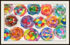 FUN!!!!  Just use a clear lid and washable Crayola paints :)  (Or a grown-up could use acrylics and a canvas...)  Oh...the ideas!!!