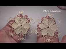 Crochet flower tutorial for doily EASY. Мотив с цветком для са. Crochet Simple, Unique Crochet, Love Crochet, Irish Crochet, Crochet Motif, Crochet Shawl, Crochet Lace, Crochet Puff Flower, Crochet Flower Tutorial