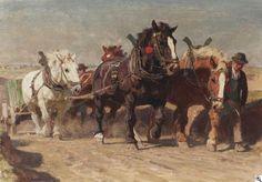 Julius Paul Junghanns: Viererzug aus unserer Rubrik: Gemälde des 19. Jahrhunderts
