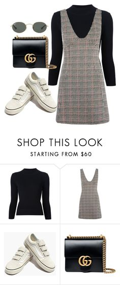 """Untitled #2125"" by adoresarah ❤ liked on Polyvore featuring Alexander McQueen, Topshop, Madewell, Gucci and Ray-Ban"
