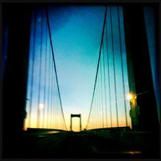 Walt Whitman Bridge at sunrise - Philadelphia