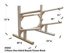 2 Place Kayak Rack | Free Standing Kayak & Canoe Storage