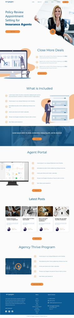 Clean Homepage Concept for Engagex Appointments  An insurance company homepage concept.  If you are in need of a new website get in touch and I'll make sure you reach your goals.  #webdesign #website #websitedesign #websiteinspiration #business #insurance