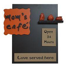 Wood + Polyresine Moms Cafe Kitchen Name plate - Karigaari India - 456653 Diy Crafts For Home Decor, Diy Arts And Crafts, Craft Stick Crafts, Creative Crafts, Diy Room Decor, Name Plates For Home, Plates On Wall, Name Plate Design, Wood Shoe Rack