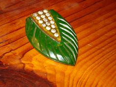 Fantastic Art Deco Carved Marbled APPLE JUICE & by THEUNITGAL, $110.00
