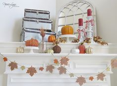 Nissa-Lynn Interiors and Decor: Thanksgiving Mantle!