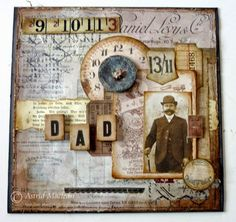 All about Him for a Vintage Journey Steampunk Layout using Tim Holtz Ideology