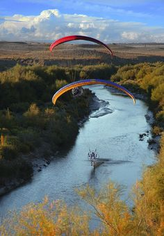 Cool paragliding shot from guys from USA.