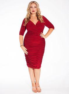 Ambrosia Dress in Deep Rouge