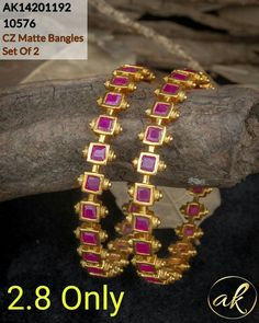 Gold Bangles Design, Gold Earrings Designs, Gold Jewellery Design, Necklace Designs, Gold Jewelry, Baby Jewelry, Jewelry Model, Designer Jewelry, India Jewelry