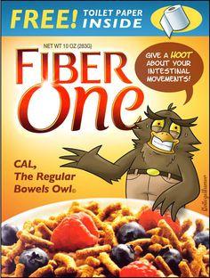 If boring cereals had mascots...