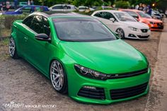 #Volkswagen_Eos w/ #Scirocco front end #R36 #KTS #Karosserietechnik #Wörthersee #2015 #Projekt_Eos_R36 #Custom #Modified #Slammed #Bagged #Tucked #Stance (This is a VW Eos with a Scirocco R36 Front end. Heavily modified for a hardcore VW fan at the 2015 Wörthersee.)
