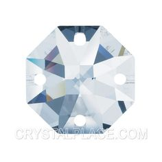 In stock $1.03 Swarovski crystal Clear Octagon Lily 4 Holes, 2 Sizes.