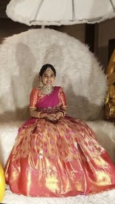 Half Saree Lehenga, Kids Lehenga, Saree Dress, Anarkali, Sarees, Half Saree Designs, Pattu Saree Blouse Designs, Saree Blouse Patterns, Half Saree Function