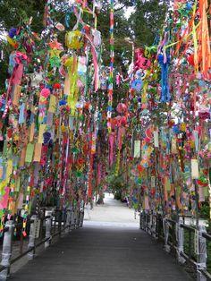 """Tanabata"" Star Festival decorations"