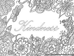 "free coloring page ""kindness"""