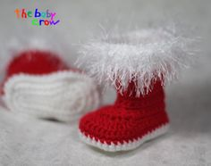 Crochet Baby Winter Booties by TheBabyCrow on Etsy