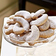 Viennese Almond Crescents: Look for almond meal—also known as almond flour—in health-food and specialty stores. Bake the cookies ahead, and freeze up to six months in an airtight container, with wax paper between layers. Thaw and dust the cookies with powdered sugar just before serving.