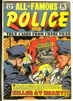 Pre-Code Crime Stories, True Crime Cases 10/52 Bright L B Cole Cover A.Hollingsworth M.Baker Art Type Art, Types Of Art, Crime Comics, True Crime, Golden Age, Police, Horror, Comic Books, Bright