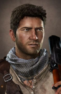 Final render (?) Nathan Drake. Uncharted 3,