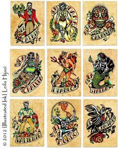 Old School Loteria by Illustrated Ink