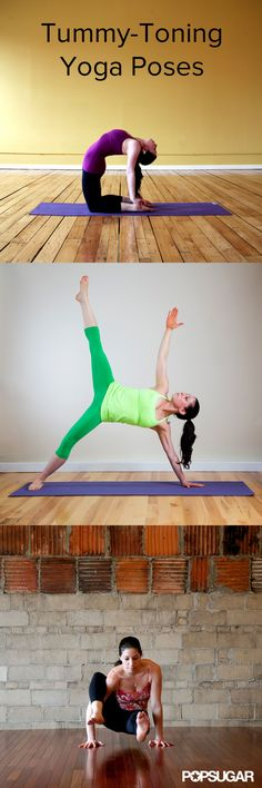 Feel the Belly Burn With These Tummy-Toning Yoga Poses. #yoga #fit