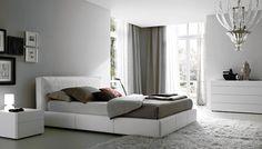 slaapkamer met grijstinten