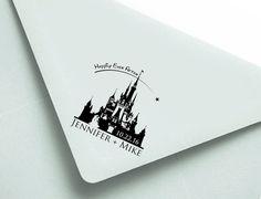 "Personalized Stamp: 2.5x2.5"" Disney Wedding, Wedding Date Stamp, Wedding Stamp, Custom wood stamp, rubber stamp, custom, Disney Engagement by MineByDesignStudio on Etsy https://www.etsy.com/listing/290675611/personalized-stamp-25x25-disney-wedding"