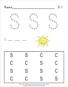 Ss phonics sheets... FREE!