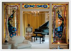 PEACOCKS AND ELVIS!!! can't get much better than that! Graceland: Living Room by josefrancisco.salgado, via Flickr