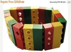 ON SALE Collectible bracelet Model 3  made from LEGO R #MademoiselleAlma #LEGO #ETSY