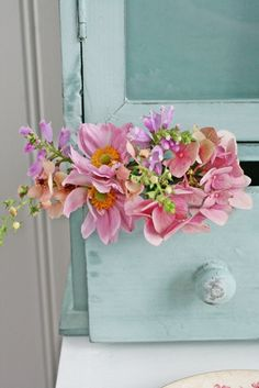 posies in a drawer...never thought of that!