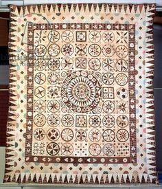 Patchwork bedcover, Ireland, 1850-60 (textile) by Pizar, Jane (fl.1850-60) - Bridgeman - Art, Culture, History