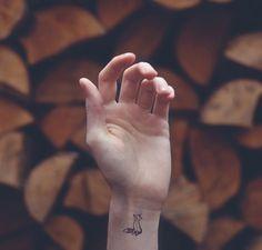 Cute little fox - Photo by Austin Tott / Tiny Tattoos project.