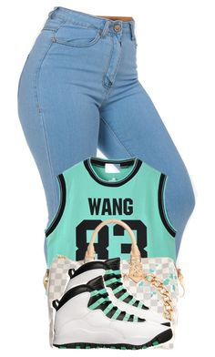 """""""Air Jordan 10 Outfit"""" by desarae143 ❤ liked on Polyvore featuring Chicnova Fashion, Louis Vuitton and MOOD"""
