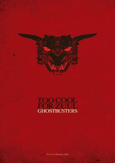 Minimalist Movie Poster: Ghostbusters by krak-fox