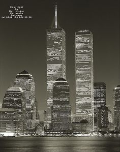 Wish I could have seen them, just been to ground zero  Twin Towers